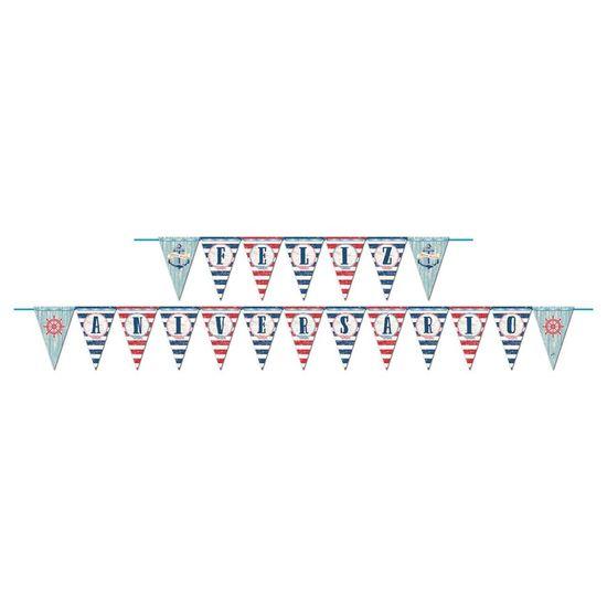 Festa Marinheiro - Faixa Feliz Aniversário Marinheiro Junco