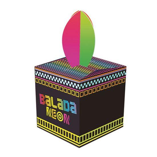 Caixa para Lembrancinhas Neon Party - 08 unidades