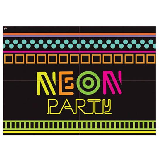 Painel Gigante Cartonado Neon Party