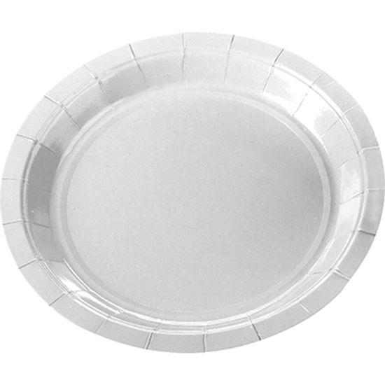 Prato de Papel (18cm) Color Branco - 10 unidades