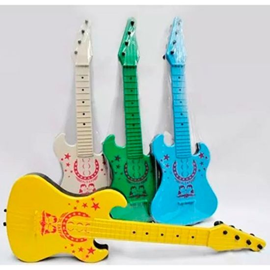 Lembrancinha Infantil - Guitarra Plástica Colorida