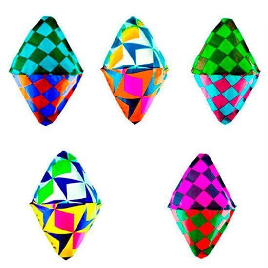Balão Decorativo de Papel Seda para Festa Junina - 05 Un