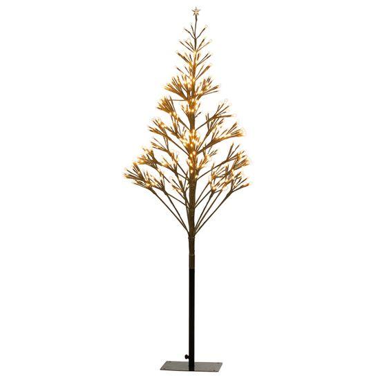 Árvore de Natal 380 Leds Bivolt Ouro e Clara 135cm (Árvores de Led)