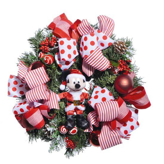 Natal Disney - Guirlanda com Mickey de Pelúcia 40cm