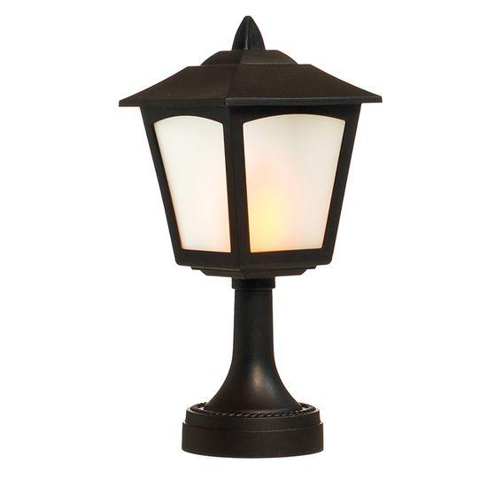Poste de Mesa com Lâmpada 2 AA Preto (Lanternas)
