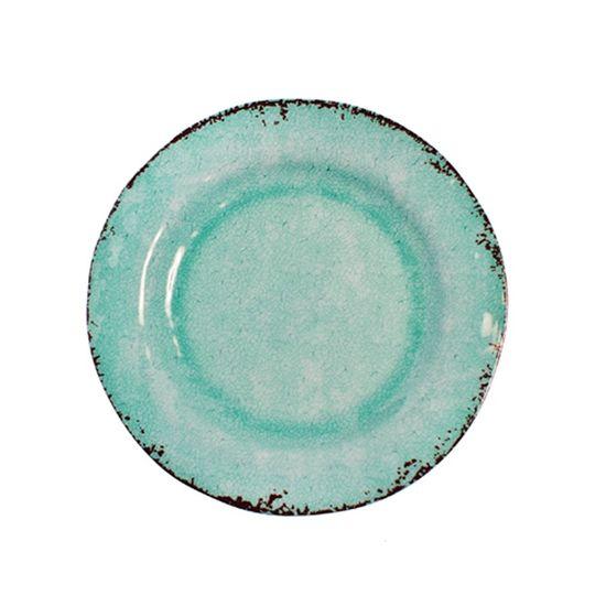 Prato de Natal Verde Claro 20cm (Melamina) - 2 Un