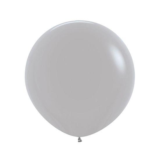 Balão Látex Fashion Cinza R36 / 91 cm - 2 Unidades