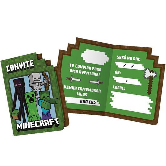 Festa Minecraft - Convite de Aniversário Minecraft - 08 Un