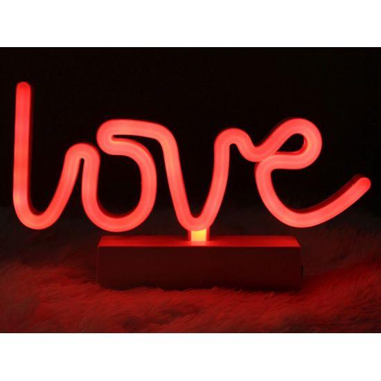Silhueta de Led Love Vermelho 36,5x2x13,5