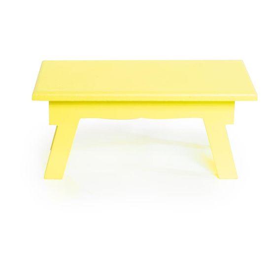 Banquinho de Mesa Alto Amarelo 25x14x11