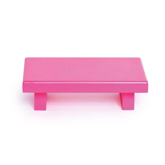 Mini Bandeja Retângular Pink Neon 16x10x4