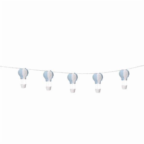 Varalzinho de Balões Luminosos Azul e Branco - 1 Unidade