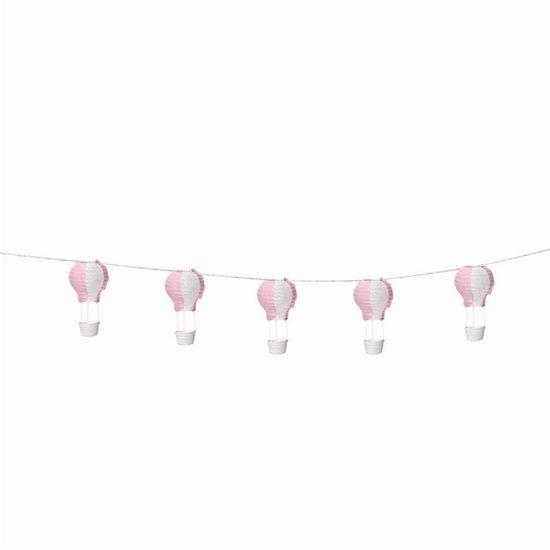 Varalzinho de Balões Luminosos Rosa Branca - 1 Unidade