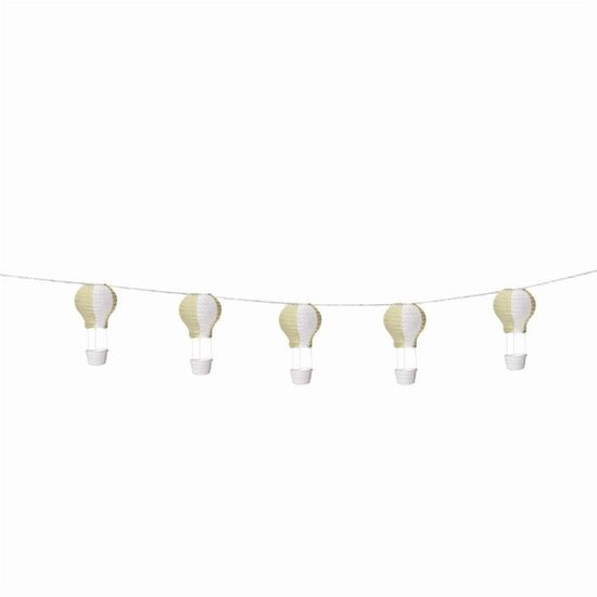 Varalzinho de Balões Luminosos Nude Branco - 1 Unidade
