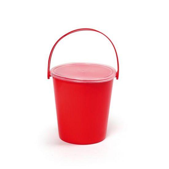 Baldinho Liso Vermelho 10x11 - 1 Unidade