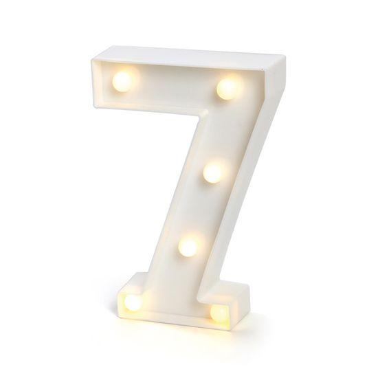 Luminoso Número 7 com Led Branco
