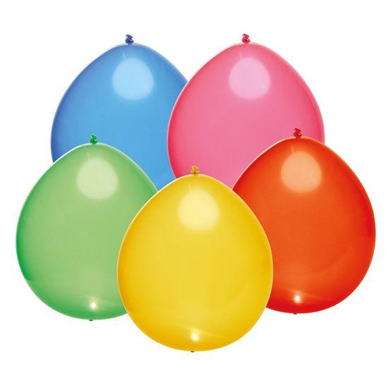 Balão com Led Perolado Sortido - 6 Peças