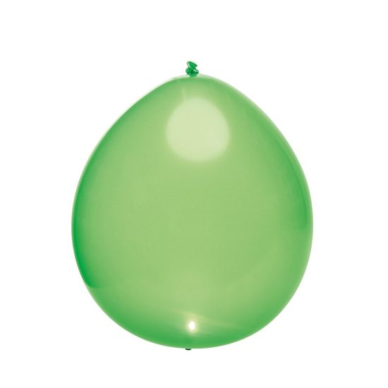 Balão com Led Perolado Verde - 5 Peças