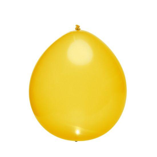 Balão com Led Perolado Amarelo - 5 Peças
