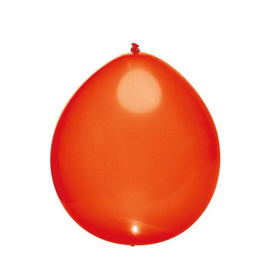 Balão com Led Perolado Vermelho - 5 Peças