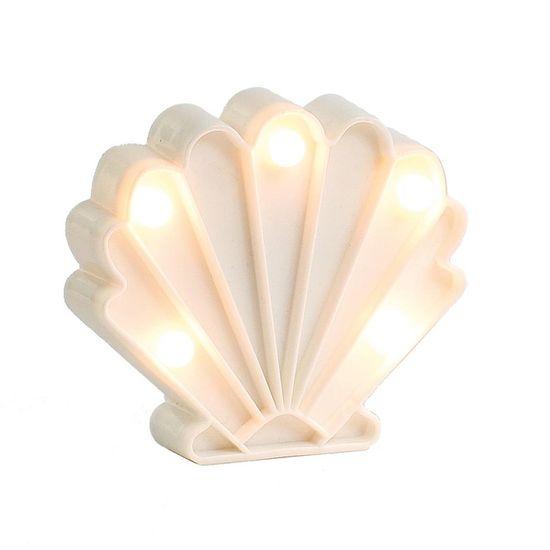 Luminoso Concha do Mar com Led Branco