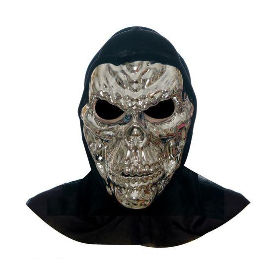 Acessório Máscara de Terror Caveira Prata - 1 Unidade