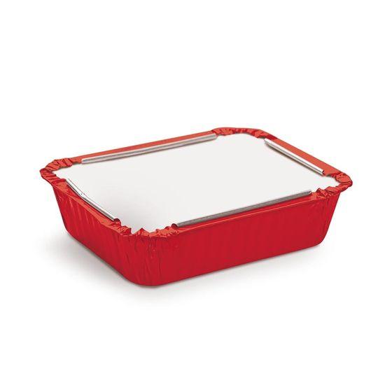 Marmitinha Vermelho e Branco Médio 8,5x6,5x2,5 - Pacotes com 12 Unidades