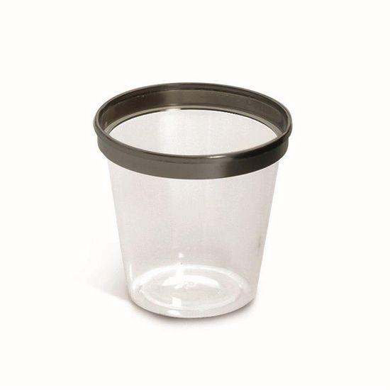 Linha Premium Mini Copo Transparente 30 ml - Pacote com 12 Unidades