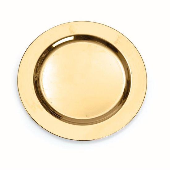 Linha Premium Prato Ouro Liso 26 cm - 6 Un
