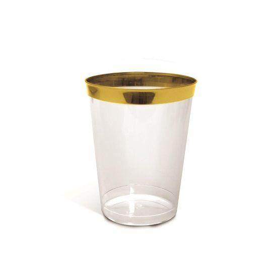 Linha Premium Copo Ouro 200 ml - 6 Un