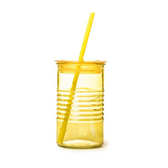 Copo de Vidro Joy Amarelo 8x8x13,5 - 1 Unidade