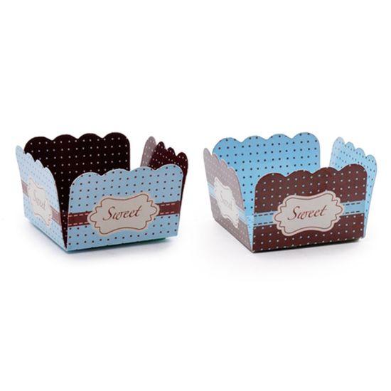 Forminhas para Doces Sweet Compose Azul Marrom - 50 Un