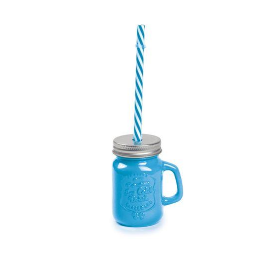Mini Caneca de Suco Azul 7x5x8,5 - 1 Unidade