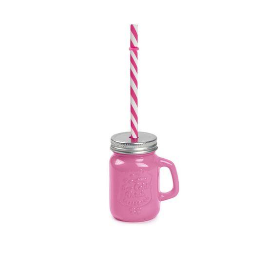 Mini Caneca de Suco Pink 7x5x8,5 - 1 Unidade