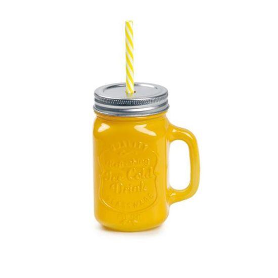 Caneca de Suco Amarelo 10x7x13 - 1 Unidade