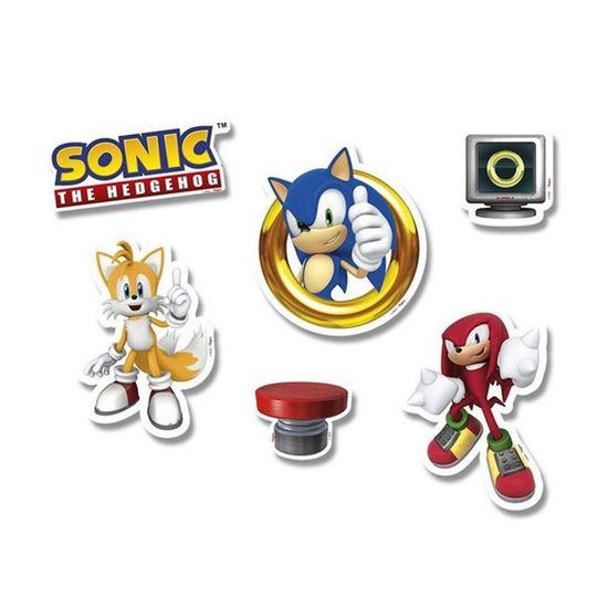 Festa Sonic - Topper de Bolo Sonic - 5 Un