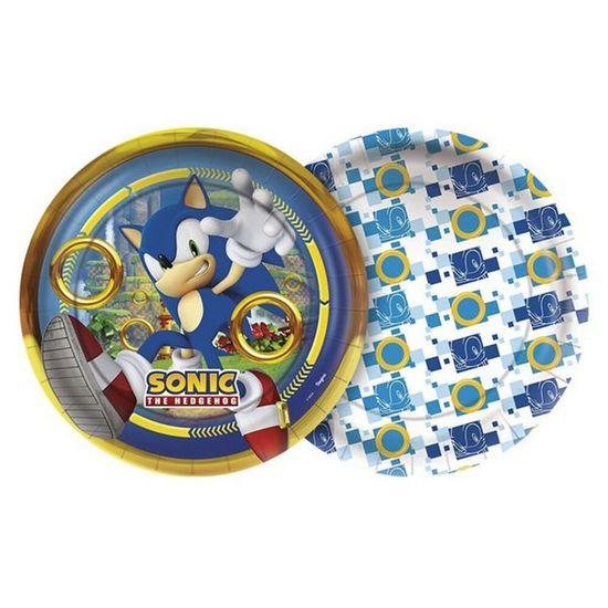Festa Sonic - Prato Descartável Sonic - 08 Un