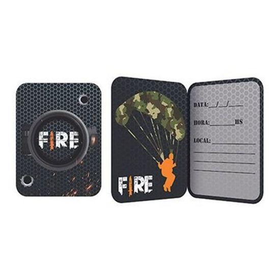 Festa Free Fire - Convite de Aniversário Free Fire - 8 Un