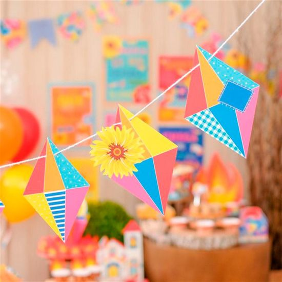 Festa Junina - Faixa Decorativa Balões
