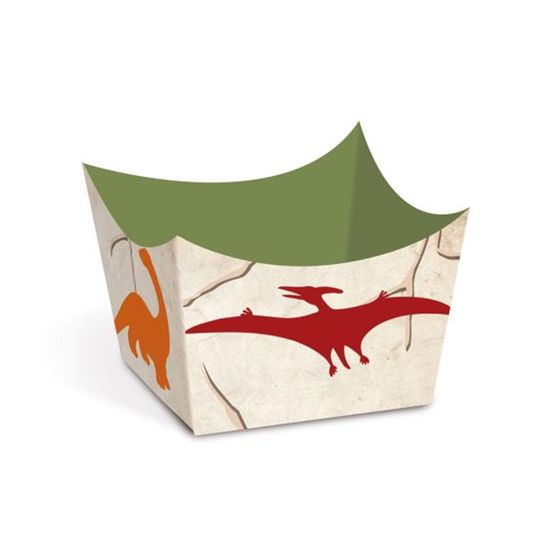 Festa Dinossauros - Cromus Mundo Dos Dinossauros - Forminhas para Doces Cachepot Mundo Dos Dinossauros - Pacote com 24 Unidades