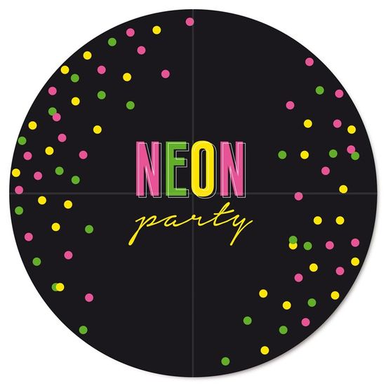 Neon - Painel Redondo 2 Lâminas Neon