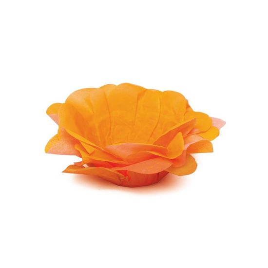 Neon - Forminhas para Doces Roses sem Folhas Neon Laranja - 40 Un