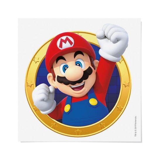 Festa Super Mário - Cartela Transfer para Tecido Super Mario 13x13