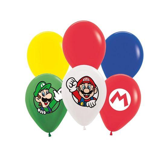 Super Mario - Balão Latex para Decoração Super Mario Sort 12