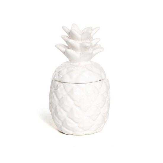 Vela Pote Abacaxi Aroma Branco ( Tropical ) - 12 Un