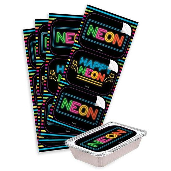 Adesivo Decorativo Retangular Neon - 4 Un