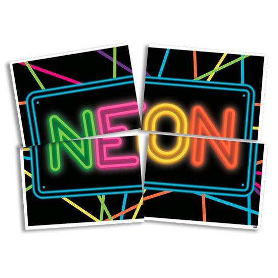 Painel Gigante Cartonado 4 Lâminas Neon