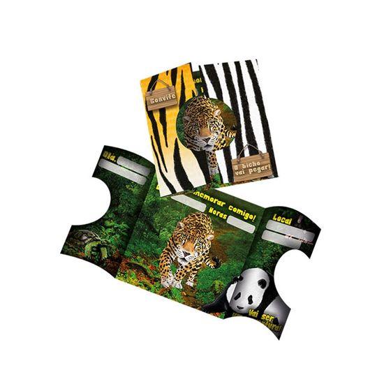 Festa Mundo Animal - Convite de Aniversário Mundo Animal - 8 Unidades