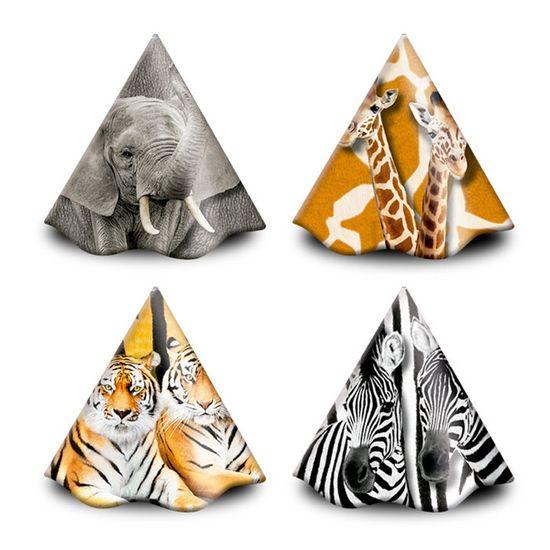 Festa Mundo Animal - Chapéu de Aniversário Mundo Animal - 8 Un