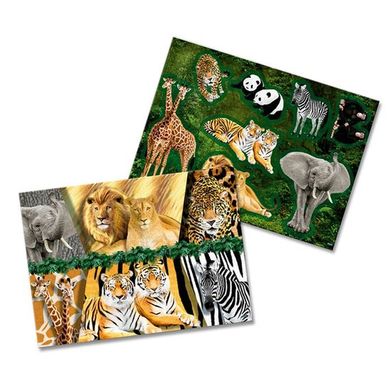 Festa Mundo Animal - Kit Decorativo Cartonado Mundo Animal